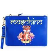 Moschino jewelled tiger clutch bag