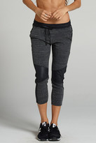 ChiChi Active - Michelle Cropped Moto Jogger With Leather