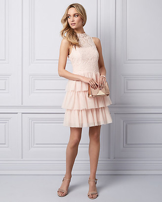 Le Château Lace & Tulle Tiered Party Dress