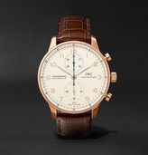 IWC SCHAFFHAUSEN Portugieser Chronograph 40.9mm 18-Karat Red Gold and Alligator Watch