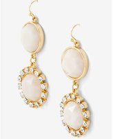 Express double stone and rhinestone drop earrings