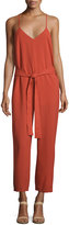Lucca Couture Bonnie Cross-Back Jumpsuit, Rust