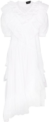 Simone Rocha Asymmetrical Ruffle Dress