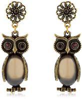 Alcozer & J Kira & Melita Owl Pendant Earrings