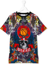 Philipp Plein Basketball T-shirt - kids - Cotton - 14 yrs