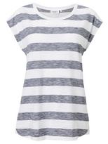 Jeanswest Colette Textured Stripe tee-Deep Iris/White-XL