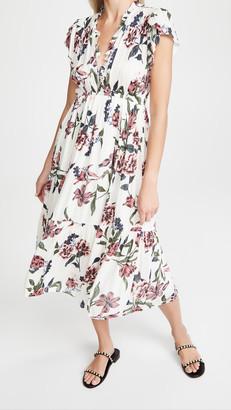 BB Dakota Elegant Domain Bloom Print Midi Dress