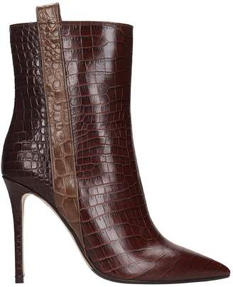 The Seller High Heels Ankle Boots In Brown Leather