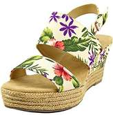 White Mountain Womens Bar Harbor Fabric Open Toe Special Occasion Platform Sa....