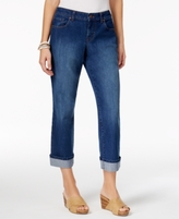 Style&Co. Style & Co Style & Co Petite Curvy-Fit Riverside Wash Capri Jeans, Created for Macy's