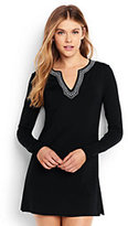 Classic Women's Long Sleeve Swim Tunic Rash Guard-Black/White