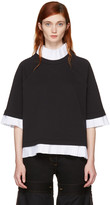 MM6 MAISON MARGIELA Black Mock Layered Sweatshirt