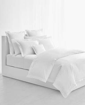 Lauren Ralph Lauren Spencer Cotton Sateen Border King Duvet Cover Bedding