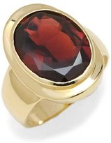 Tatitoto Gioie Women's Ring in 18k Gold with Garnet, Size 8.5, 11 Grams