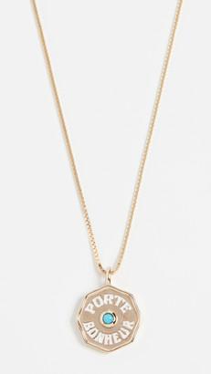 Marlo Laz 14k Mini Pb Coin Necklace