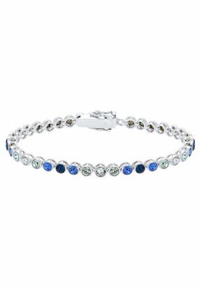 Elli Multi-Color Swarovski Crystals 925 Sterling Silver Bracelet - 17cm length