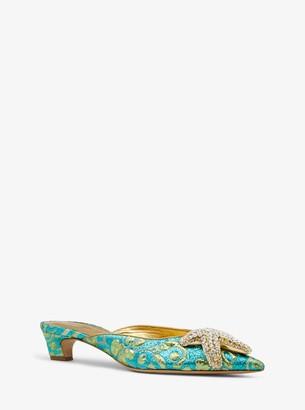 Michael Kors Calista Embellished Brocade Mule