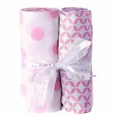 "Little Giraffe Muslin Swaddle Blanket Set - Geo Circle / New Dot, 44"" X 44"" -..."