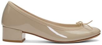 Repetto Beige Patent Camille Ballerina Heels