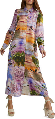Cynthia Rowley Reeve Printed Maxi Shirtdress
