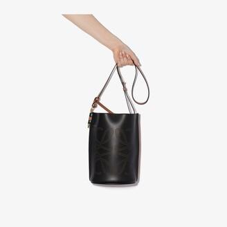 Loewe black Gate leather bucket bag
