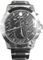 Movado Vizio 0606083 Carbon Fiber Stainless Steel 45mm Mens Watch