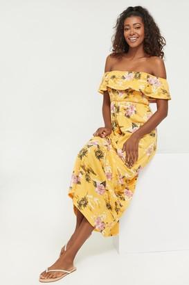 Ardene Off Shoulder Tropical Floral Maxi Dress