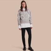 Burberry Unisex Brushed-back Jersey Sweatshirt With Rope Detail , Size: Xxs, Grey