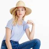 J.Crew Wide-brim hat with leather trim