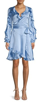 Avantlook Ruffle-Sleeve Wrap Dress