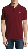 Fred Perry Tramline Tipped Piqué Polo Shirt, Rosewood