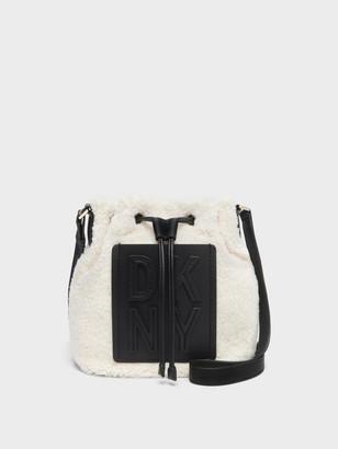 DKNY Tilly Faux Shearling Bucket Bag