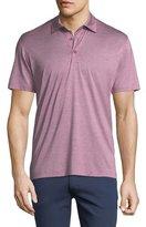 Ermenegildo Zegna Fine-Stripe Cotton Polo Shirt