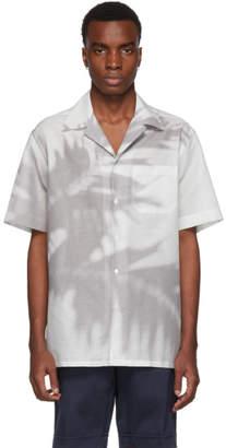 Brioni Grey Palm Tree Shirt