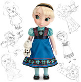 Disney Animators' Collection Elsa Doll - Frozen - 16''