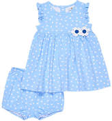 Florence Eiseman Polka-Dot Ruffle Top w/ Bloomers, Size 3-24 Months