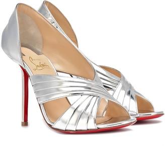 Christian Louboutin Drapa Notta 100 leather sandals