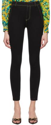 Versace Black Mesh Bodycon Trousers