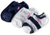 Ralph Lauren 2-6X Ankle Sock 3-Pack