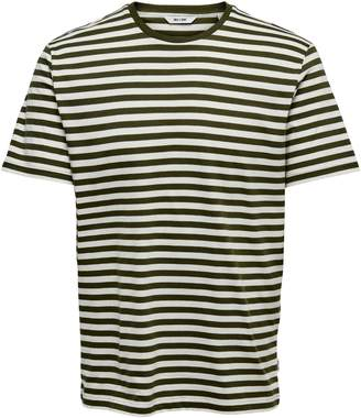 ONLY & SONS Striped Short-Sleeve Cotton Tee