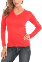 Le Mieux Red V-Neck Top