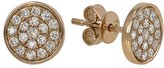 Effy Jewelry Effy Pave Classica 14K Rose Gold Diamond Earrings, 0.38 TCW