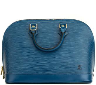 Louis Vuitton Blue Epi Leather Alma Pm