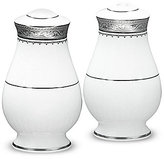 Noritake Odessa Floral Platinum Bone China Salt & Pepper Shaker Set