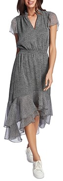 1 STATE Ruffled High-Low Dress