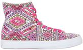 LK Embellished Canvas High Top Sneakers