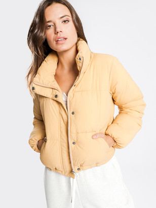 Nude Lucy Topher Puffer Jacket in Washed Mustard