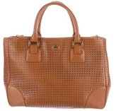Tory Burch Perforated Robinson Double Zip Tote