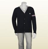 Gucci Navy Blue Wool Cardigan