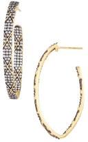 Freida Rothman Contemporary Deco Hoop Earrings